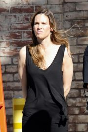 Hilary Swank on the Set of Movie Project in Los Angeles 2018/10/15 1