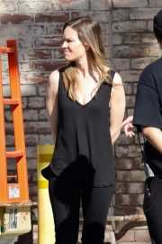Hilary Swank on the Set of Movie Project in Los Angeles 2018/10/15 2
