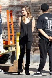 Hilary Swank on the Set of Movie Project in Los Angeles 2018/10/15 3