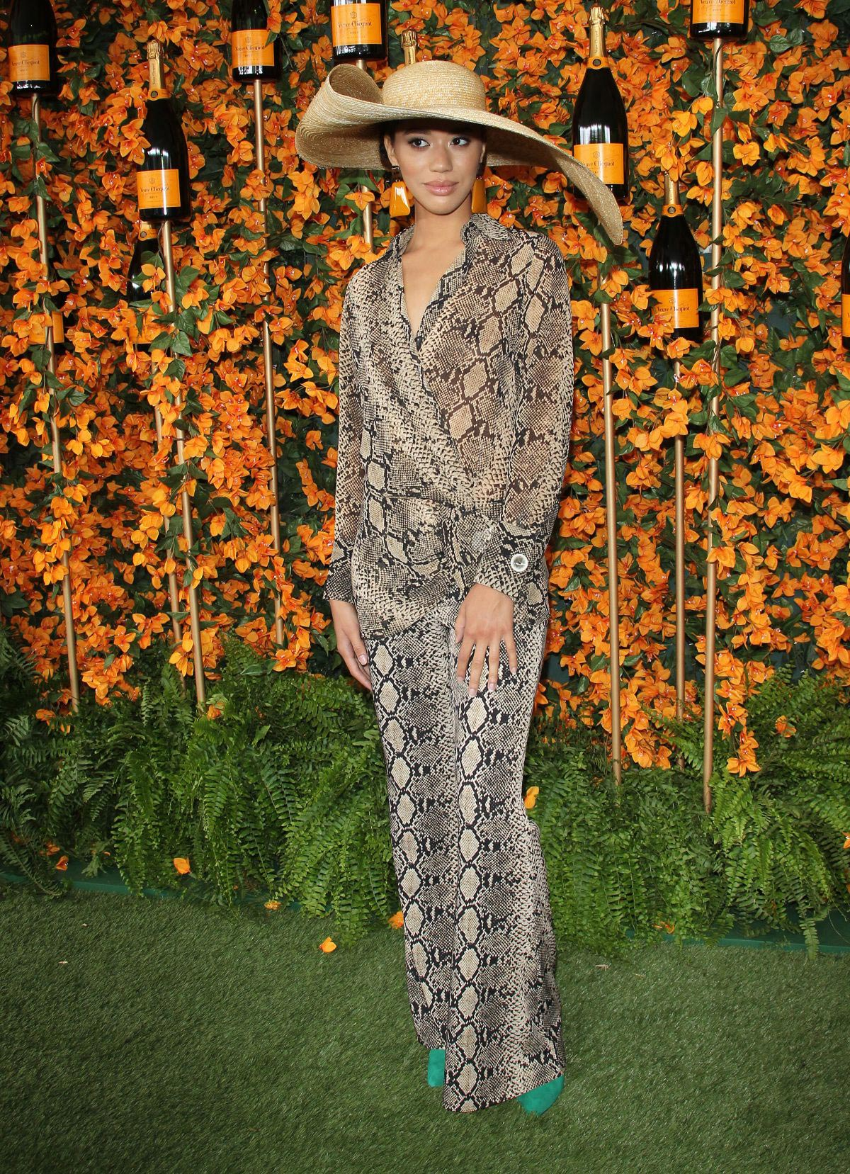 Jasmin Savoy Brown at 2018 Veuve Clicquot Polo Classic in Los Angeles 2018/10/06 1
