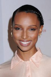 Jasmine Tookes at Moet & Chandon and Virgil Abloh New Bottle Collaboration Launch in New York 2018/10/16 2