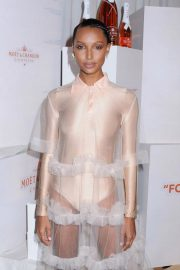 Jasmine Tookes at Moet & Chandon and Virgil Abloh New Bottle Collaboration Launch in New York 2018/10/16 6