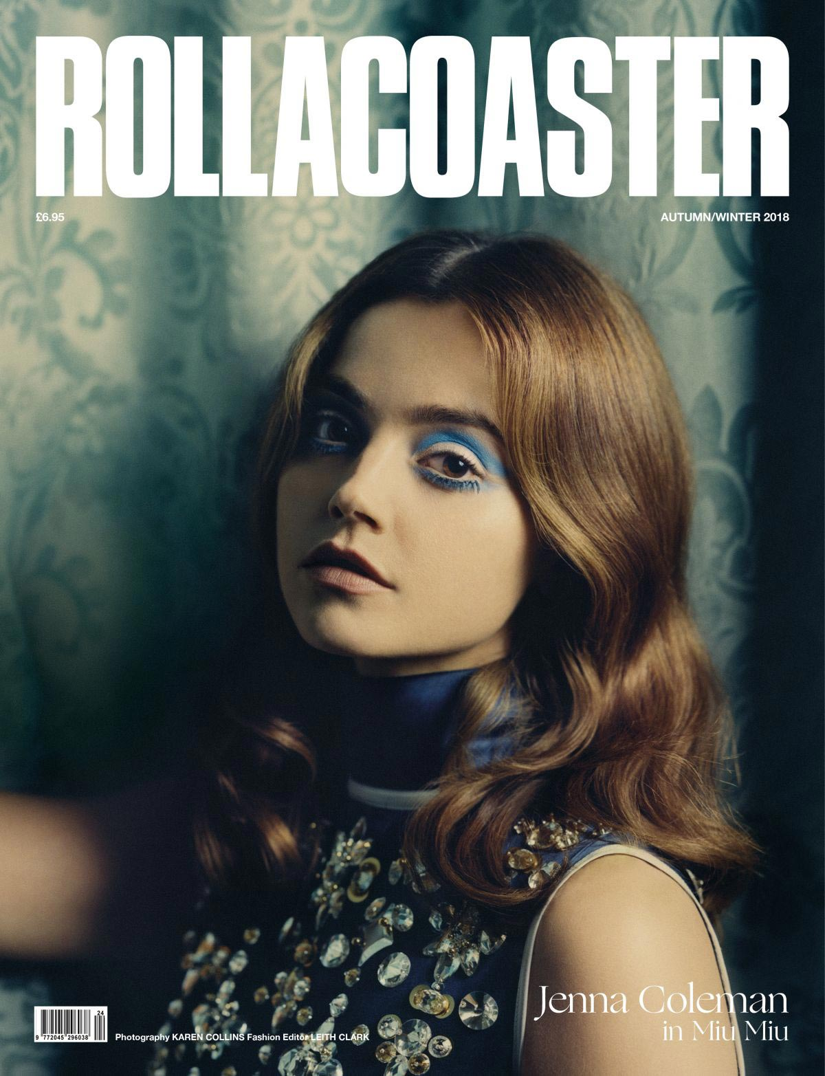 Jenna Coleman for Rollacoaster Magazine Autumn/Winter 2018 Issue 1