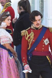 Jenna Coleman on the Set of Queen Victoria in Liverpool 2018/09/28 3