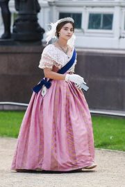 Jenna Coleman on the Set of Queen Victoria in Liverpool 2018/09/28 4