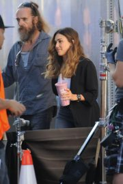 Jessica Alba on the Set of L.A.'s Finest in Los Angeles 2018/10/25 1