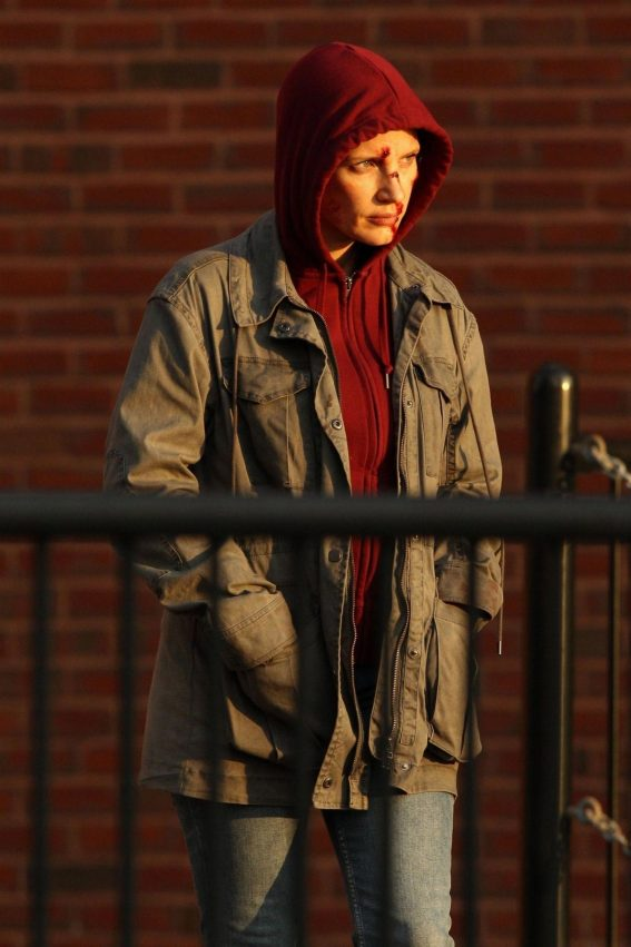 Jessica Chastain on the Set of Eve in Boston 2018/10/05 1
