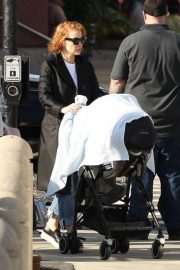 Jessica Chastain on the Set of Eve in Boston 2018/10/12 2