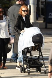 Jessica Chastain on the Set of Eve in Boston 2018/10/12 3