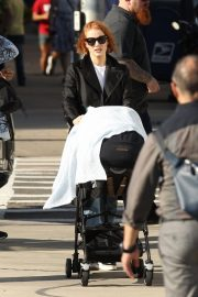 Jessica Chastain on the Set of Eve in Boston 2018/10/12 5