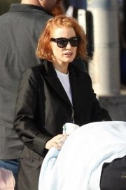 Jessica Chastain on the Set of Eve in Boston 2018/10/12 6