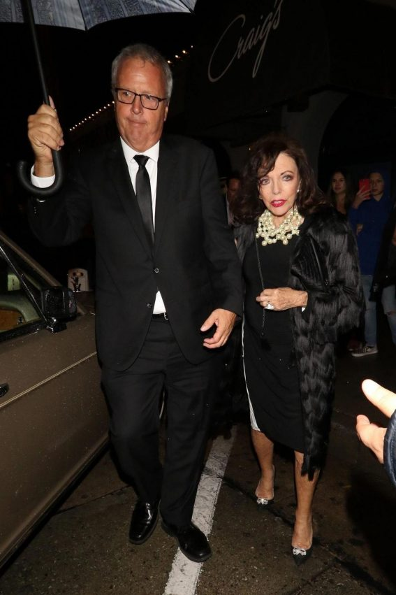 Joan Collins at Craig's Restaurant in West Hollywood 2018/10/12 1