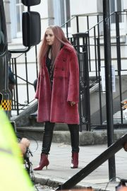 Jodie Comer on the Set of Killing Eve in London 2018/10/10 6