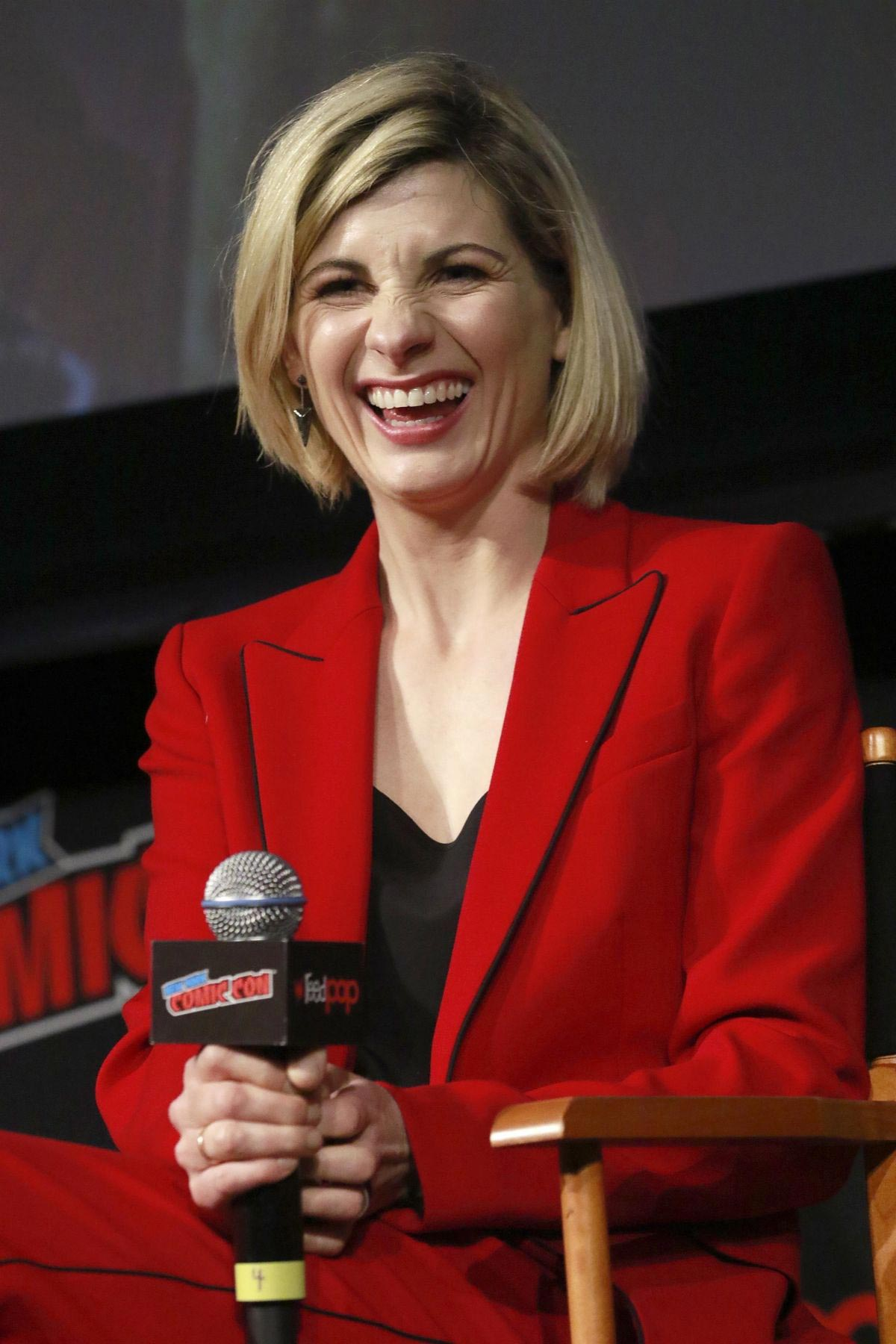 Jodie Whittaker at Doctor Who Panel at New York Comic-con 2018/10/07 1
