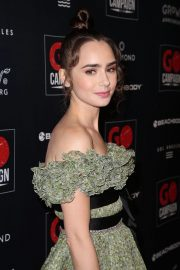 Lily Collins at GO Campaign Gala in Los Angeles 2018/10/20 3