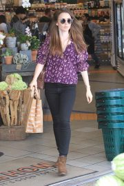 Lily Collins Shopping at Erewhon Market in Los Angeles 2018/10/02 2