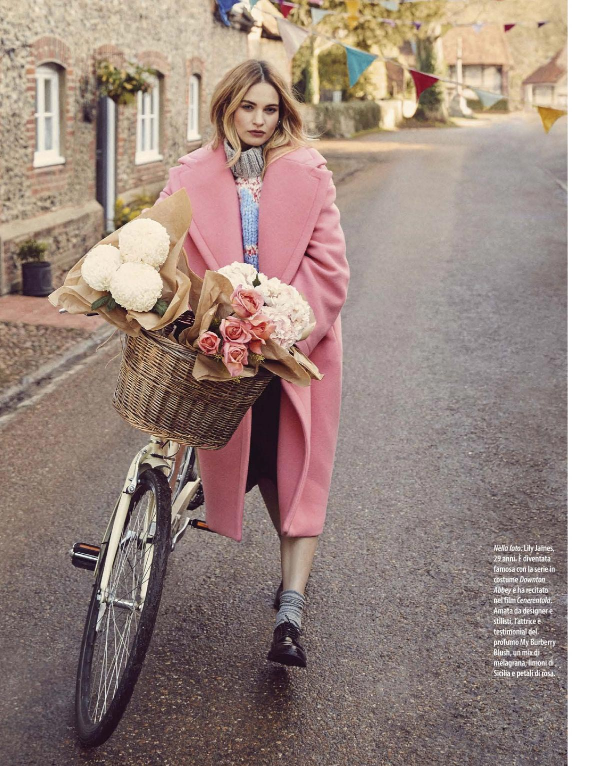 Lily James in Natural Style Magazine, October 2018 Issue 1