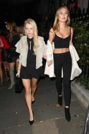 Lottie Moss and Kimberley Garner at Annabel's in London 2018/10/12 1