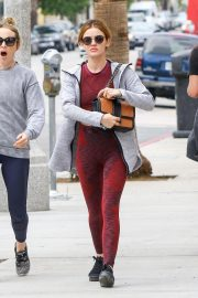 Lucy Hale in Tights Out and About in Los Angeles 2018/10/13 1