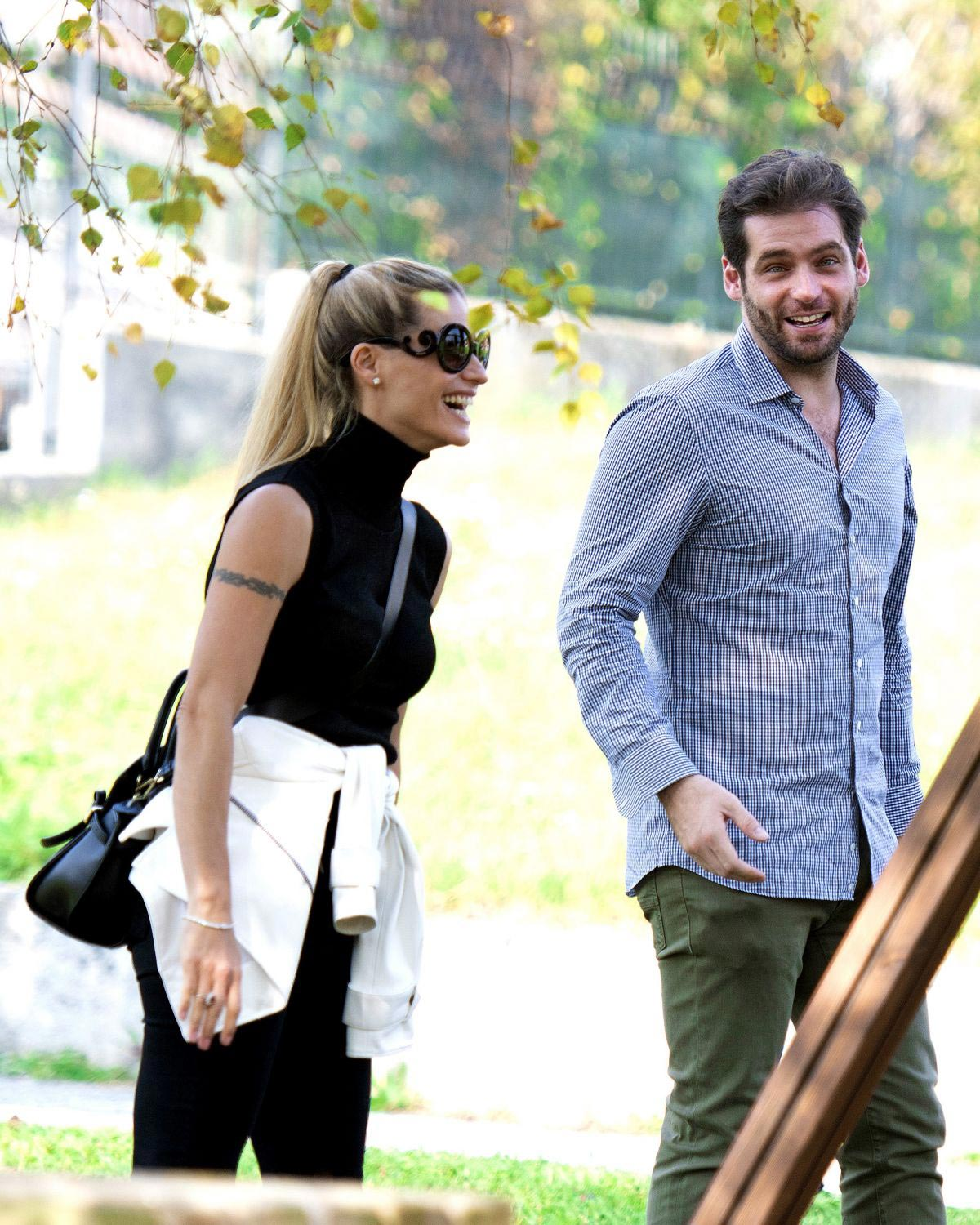 Michelle Hunziker at a Park in Clusone, Italy 2018/10/14 1
