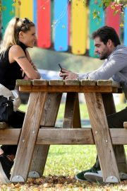 Michelle Hunziker at a Park in Clusone, Italy 2018/10/14 3