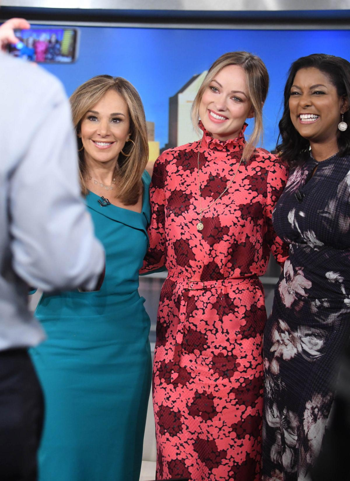 Olivia Wilde, Maria Menounos and Pollyanna McIntosh at Good Day New York 2018/10/02 1
