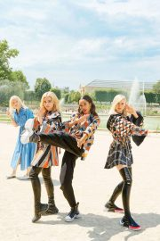 Sophie Turner, Chloe Moretz and Laura Harrier for Louis Vuitton's 2018 Charlie's Angels 4