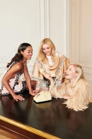 Sophie Turner, Chloe Moretz and Laura Harrier for Louis Vuitton's 2018 Charlie's Angels 7