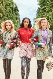 Sophie Turner, Chloe Moretz and Laura Harrier for Louis Vuitton's 2018 Charlie's Angels 9