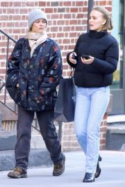 Vanessa Paradis and Lily-Rose Depp Out in New York 2018/10/19 10