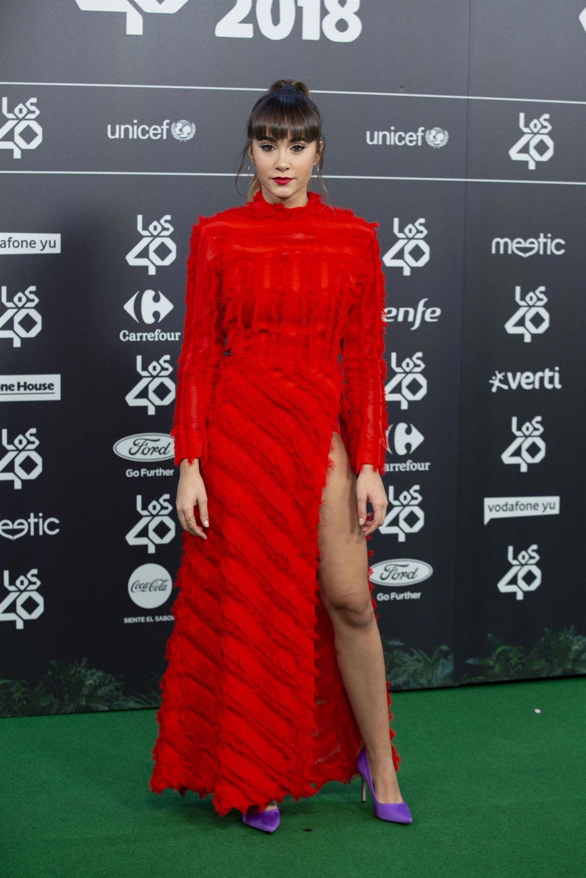 Aitana at Los40 Music Awards 2018 in Madrid 2018/11/02 1