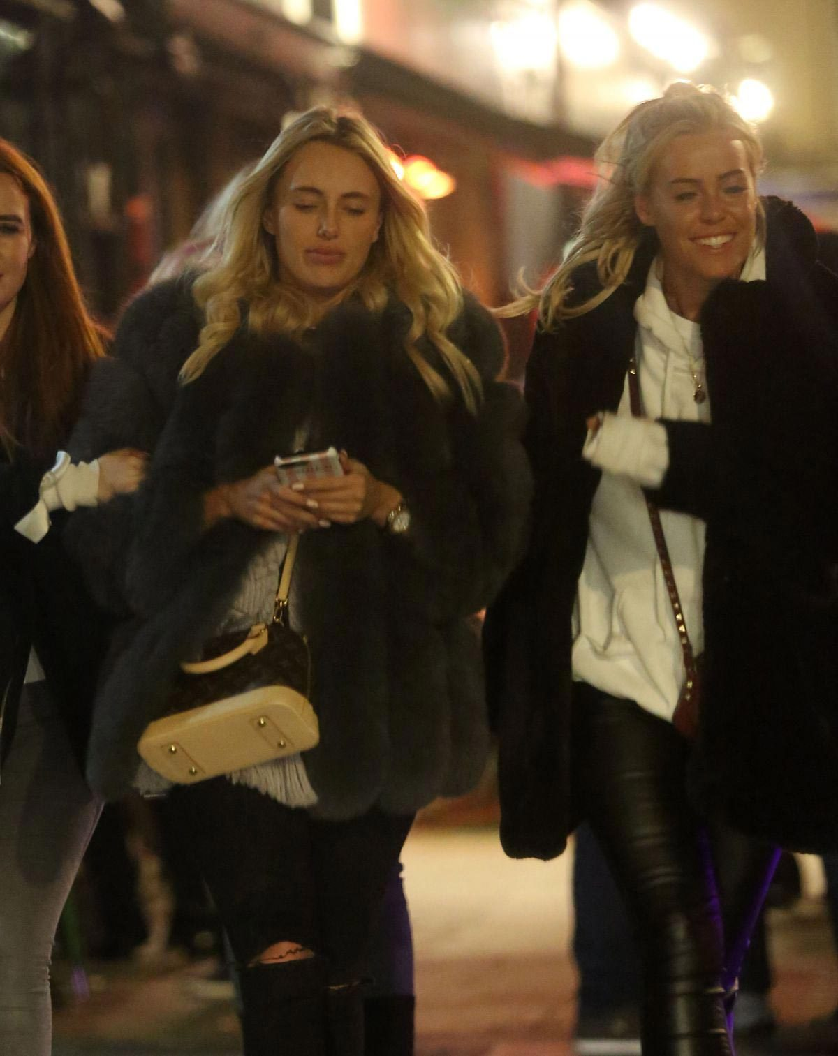 Amber Turner and Chloe Meadows Night Out in London 2018/11/23 1