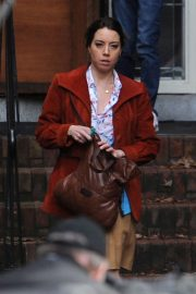 Aubrey Plaza on the Set of Child's Play Reboot in Vancouver 2018/11/03 2