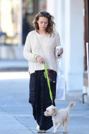Bethany Joy Lenz Out with Her Dog in Los Angeles 2018/11/22 2