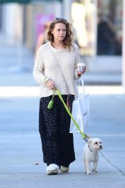Bethany Joy Lenz Out with Her Dog in Los Angeles 2018/11/22 10
