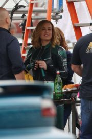 Brie Larson on the Set of Captain Marvel in Los Angeles 2018/11/19 2