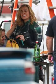 Brie Larson on the Set of Captain Marvel in Los Angeles 2018/11/19 4