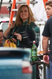 Brie Larson on the Set of Captain Marvel in Los Angeles 2018/11/19 6