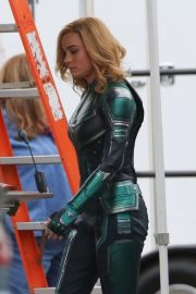 Brie Larson on the Set of Captain Marvel in Los Angeles 2018/11/19 8