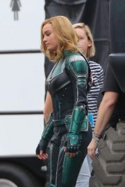 Brie Larson on the Set of Captain Marvel in Los Angeles 2018/11/19 9