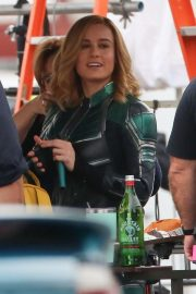 Brie Larson on the Set of Captain Marvel in Los Angeles 2018/11/19 10