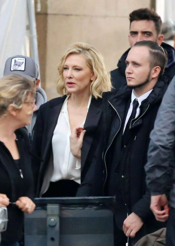 Cate Blanchett on the Set of Giorgio Armani Advert in Barcelona 2018/11/15 1
