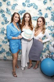 Chloe, Lauryn and Amelia Goodman at Chloe Goodman's New Cosmetics Collection with Opiah Launch in Brighton 2018/11/14 6