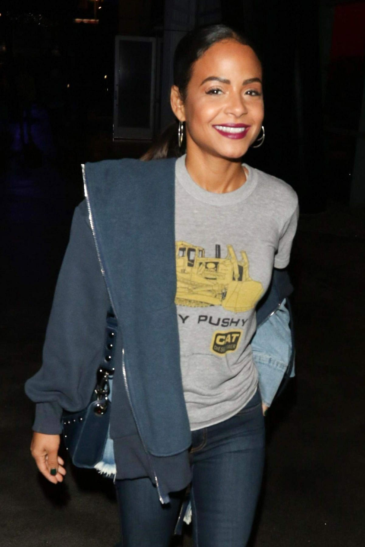 Christina Milian at Staples Center in Los Angeles 2018/11/23 1