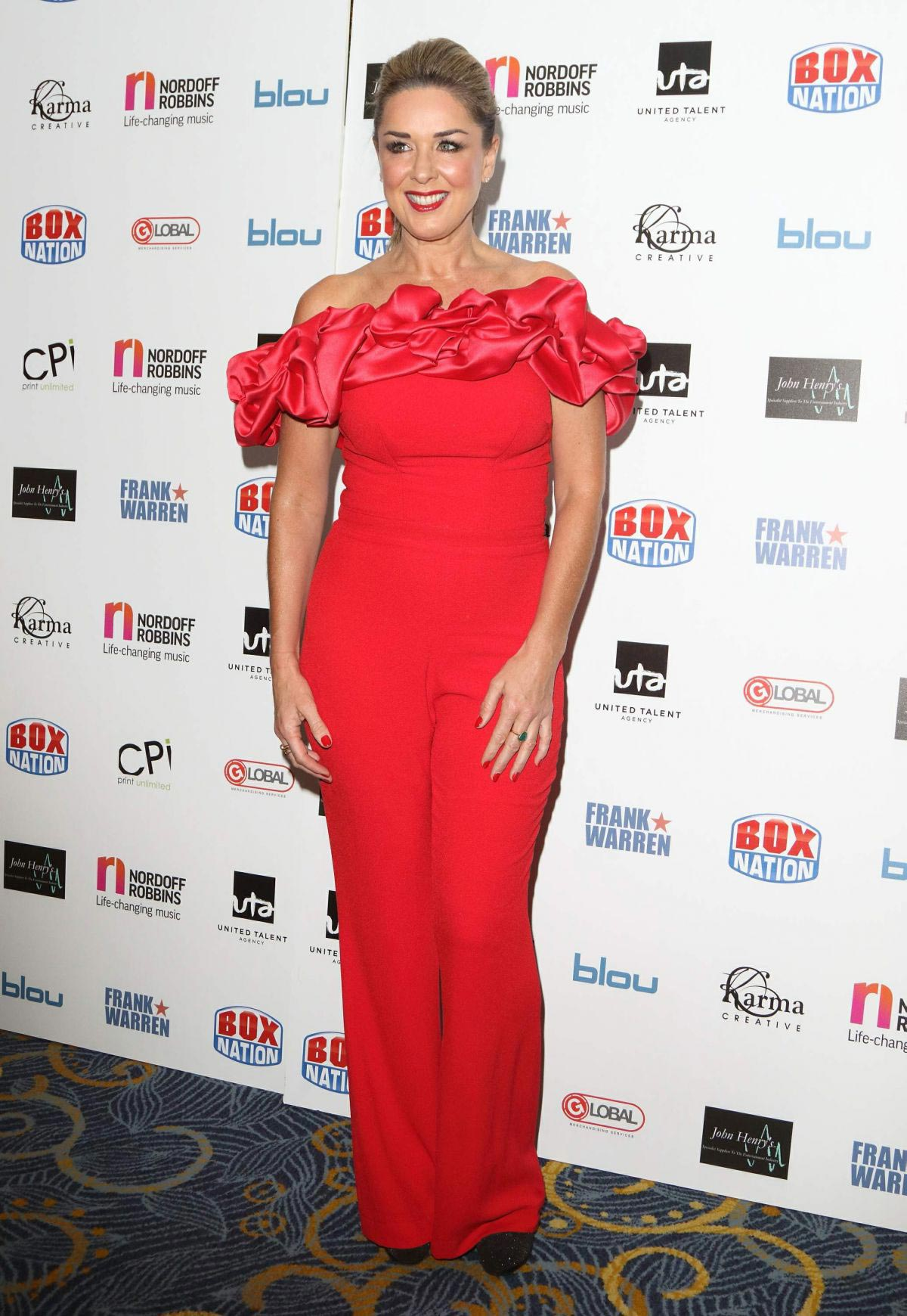 Claire Sweeney at Nordoff Robbins Championship Boxing Dinner in London 2018/11/19 1
