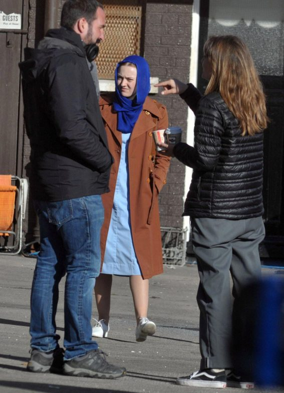 Dakota Fanning on the Set of Sweetness in the Belly in Dublin 2018/11/01 1