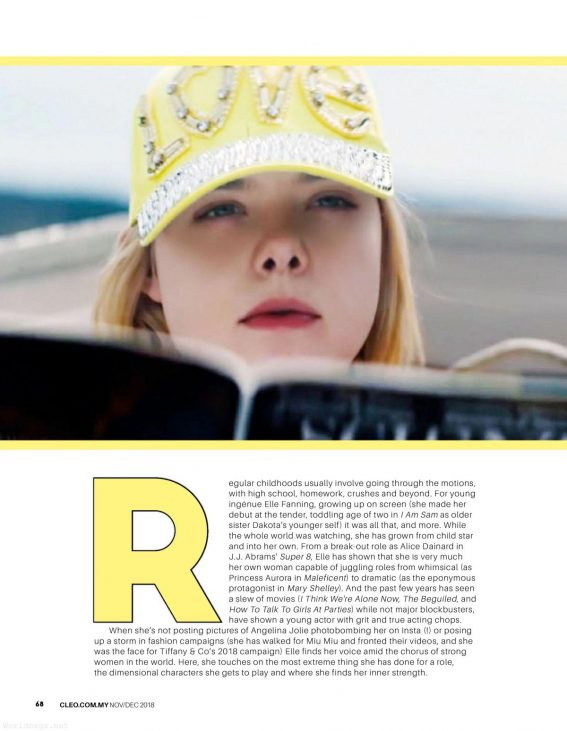 Elle Fanning in Cleo Magazine, Malaysia November/December 2018 1