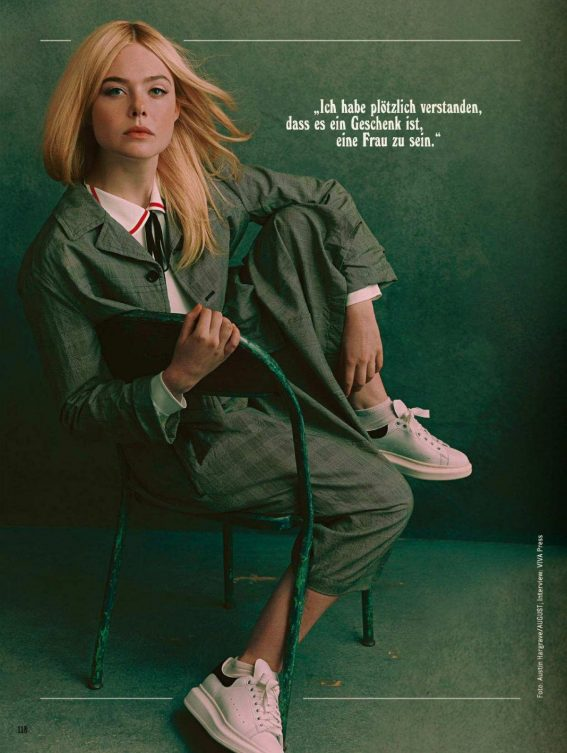 Elle Fanning in Glamour Magazine, Germany December 2018 Issue 1