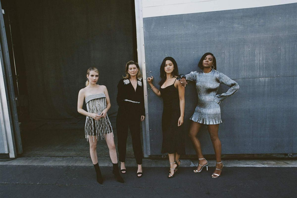 Emma Roberts, Gina Rodriguez, Gabrielle Union and Ellen Pompeo for Edit by net-a-porter, November 2018 1