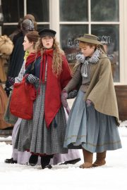 Emma Watson, Florence Pugh, Eliza Scanlen and Saoirse Ronan on the Set of Little Women in Harvard 2018/11/05 5